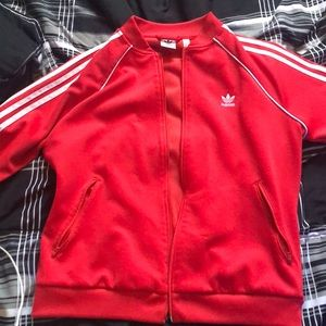 red addidas jacket